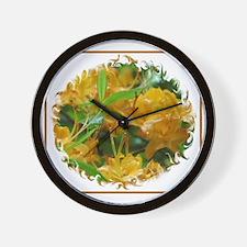 Flame Azalea Wall Clock