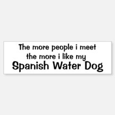 I like my Spanish Water Dog Bumper Bumper Bumper Sticker