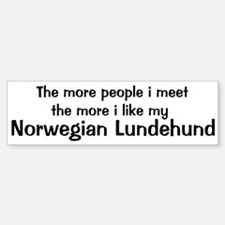 I like my Norwegian Lundehund Bumper Bumper Bumper Sticker