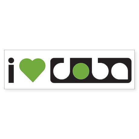 i Love doba - Bumper Sticker