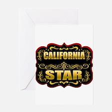 California Star Gold Badge Se Greeting Card