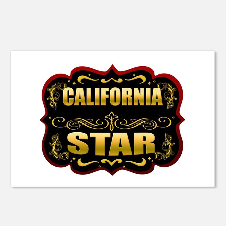 California Star Gold Badge Se Postcards (Package o