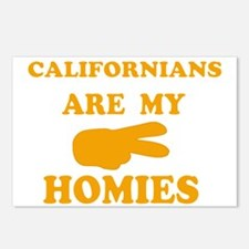 Californians are my homies Postcards (Package of 8