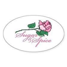 Sugar and Spice Oval Decal