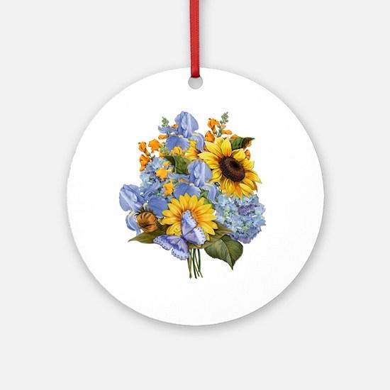 Summer Bouquet Ornament (Round)