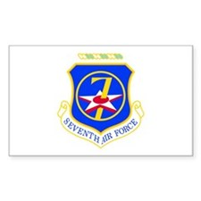 7th Air Force Rectangle Decal