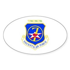 7th Air Force Oval Decal