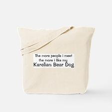 I like my Karelian Bear Dog Tote Bag
