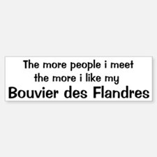I like my Bouvier des Flandre Bumper Bumper Bumper Sticker