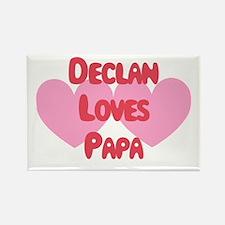 Declan Loves Papa Rectangle Magnet