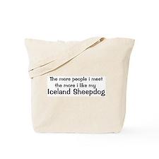 I like my Iceland Sheepdog Tote Bag