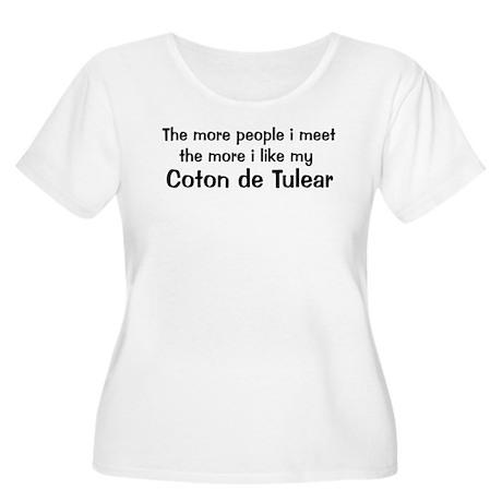 I like my Coton de Tulear Women's Plus Size Scoop