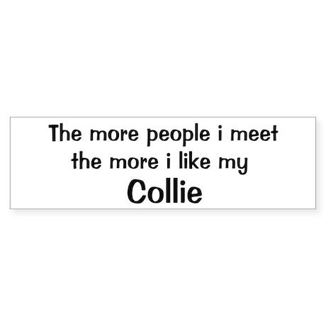 I like my Collie Bumper Sticker