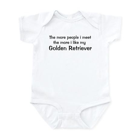 I like my Golden Retriever Infant Bodysuit