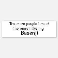 I like my Basenji Bumper Bumper Bumper Sticker
