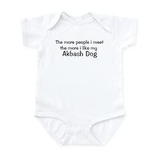 I like my Akbash Dog Infant Bodysuit