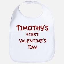 Timothys First Valentines Day Bib