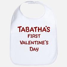 Tabathas First Valentines Day Bib