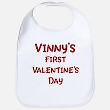 Vinnys First Valentines Day Bib