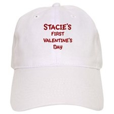Stacies First Valentines Day Baseball Cap