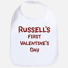 Russells First Valentines Day Bib
