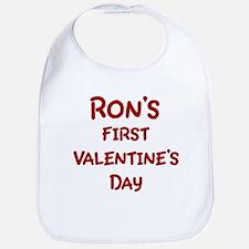 Rons First Valentines Day Bib