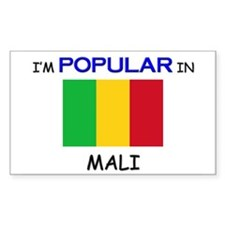 I'm Popular In MALI Rectangle Decal