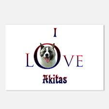 Akita I Love Postcards (Package of 8)