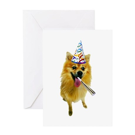 Pomeranian Party Greeting Card