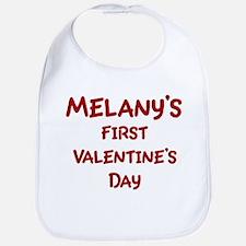 Melanys First Valentines Day Bib