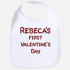 Rebecas First Valentines Day Bib