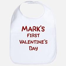 Marks First Valentines Day Bib