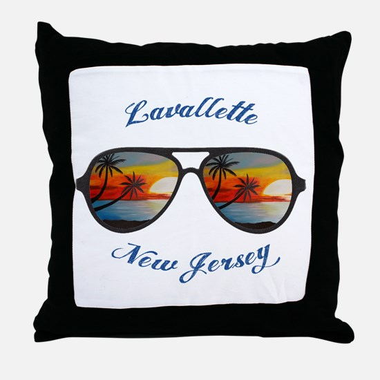 New Jersey - Lavallette Throw Pillow