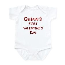 Quinns First Valentines Day Infant Bodysuit