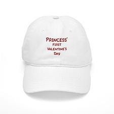 Princesss First Valentines Da Baseball Cap