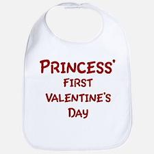 Princesss First Valentines Da Bib