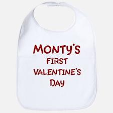 Montys First Valentines Day Bib