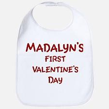 Madalyns First Valentines Day Bib
