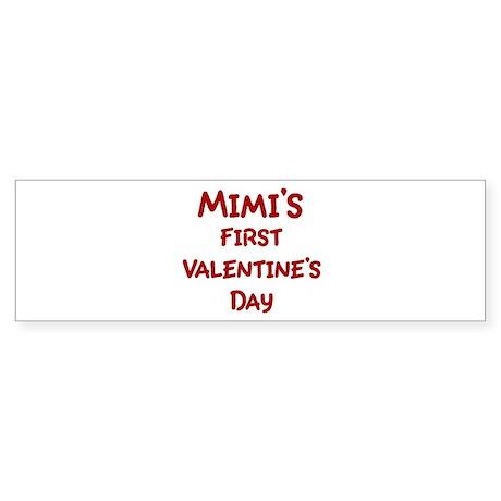 Mimis First Valentines Day Bumper Sticker