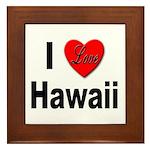 I Love Hawaii Framed Tile