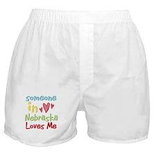 Someone in Nebraska Loves Me Boxer Shorts