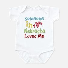 Someone in Nebraska Loves Me Infant Bodysuit