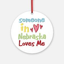 Someone in Nebraska Loves Me Ornament (Round)