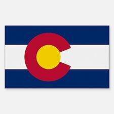 Beloved Colorado Flag Modern Rectangle Decal