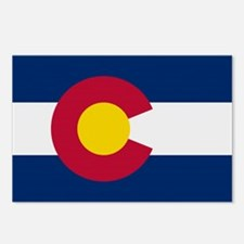 Beloved Colorado Flag Modern Postcards (Package of