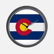 Beloved Colorado Flag Modern Wall Clock
