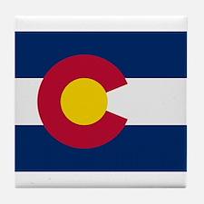 Beloved Colorado Flag Modern Tile Coaster