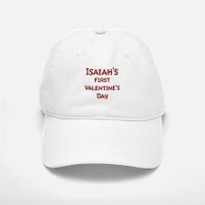 Isaiahs First Valentines Day Baseball Baseball Cap