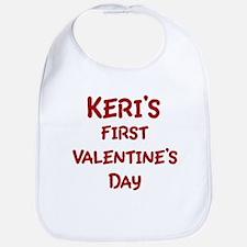 Keris First Valentines Day Bib