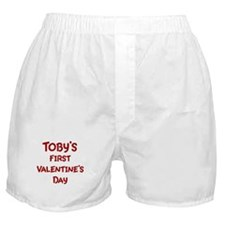 Tobys First Valentines Day Boxer Shorts
